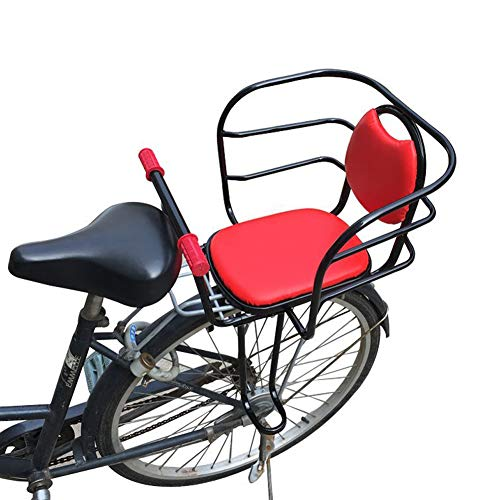 HNCS Sedile per Bicicletta Bambini Posteriore,Portabiciclette Supporto per Bambino con Poggiapiedi Sbarre di Sicurezza Corrimano per Bike Bicicletta Elettrica Max 25KG