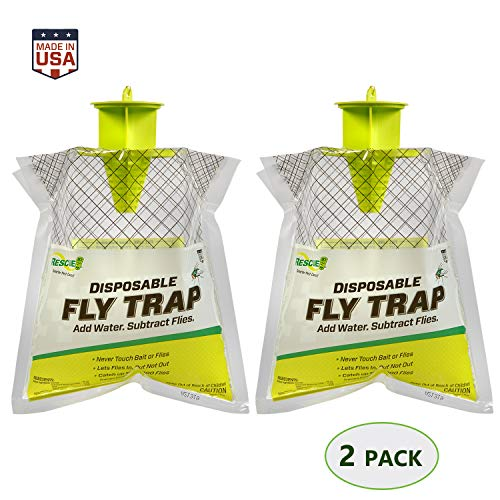 RESCUE! Outdoor Disposable Hanging Fly Trap – 2 Pack