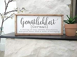 Tamengi Gemutlichkeit Gemütlichkeit Sign Germay Gift Deutschland European Decor German Heritage Gift Deutsch Language Words Phrases Gemutlich Berlin