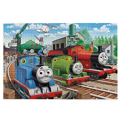 Thomas Friends 1000 piezas Rompecabezas educativo desafiante rompecabezas familiar juego regalo para adultos y niños con exquisita caja de color