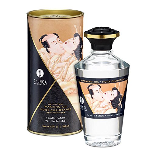 Aceite de Masaje Afrodisíaco Efecto Calor de Vainilla Fetiche 100 ml. – Shunga - Juego para tus sentidos: estimula tu tacto, tu gusto y tu olfato!