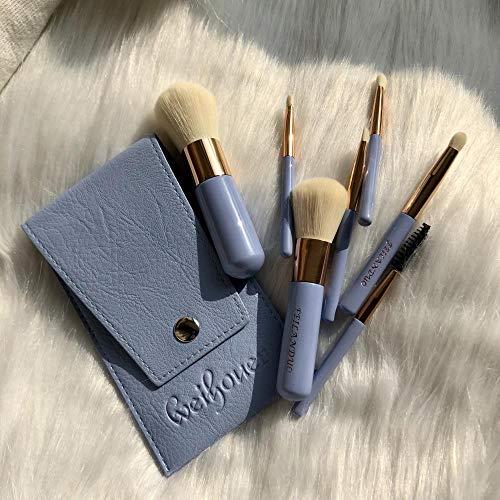 Pinceau De Maquillage Set Brush Beauty Makeup Eye Shadow Brush Blush Brush Lip Brush Brush Eyebrow Brush Loose Powder Brush, Sky Blue E
