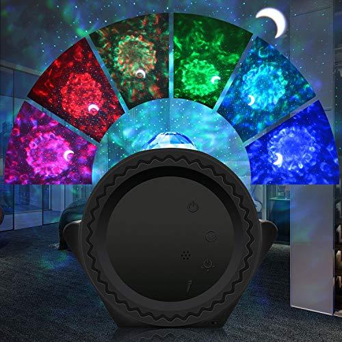 LED Sternenhimmel Projektor Lampe,Sternenlicht Projektor Nachtlicht Baby Wasserwellen Welleneffekt App Intelligente Steuerung Galaxy Light Projector Planetarium