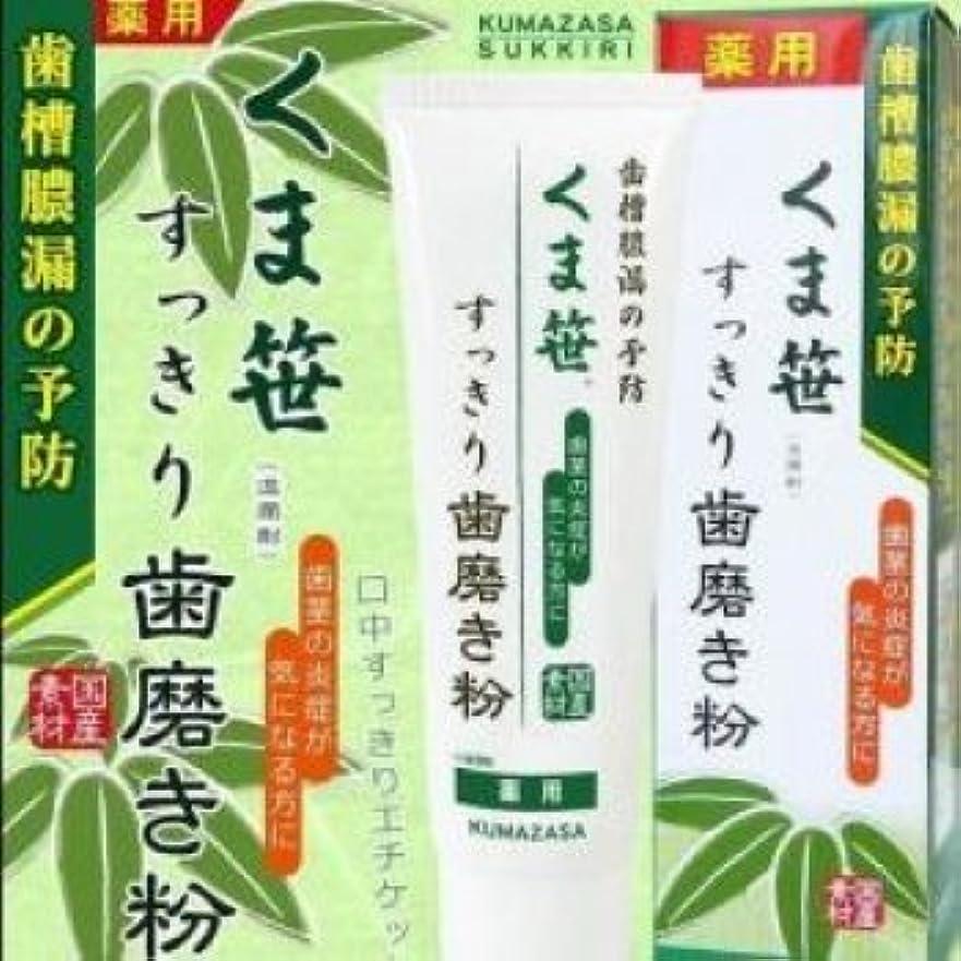 四分円タワーアラブサラボ薬用くま笹すっきり歯磨き粉