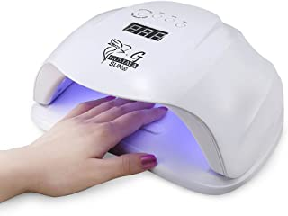 54W UV LED Nail Lamp Dryer for Gel Polish, Gustala Gel Nail Lamps Curing Lamp with 36 Dual Light Source LEDs, 4 Timer Setting with Automatic Sensor for Fingernail Gels Based (Sunx)