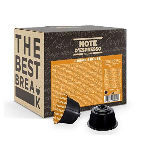 Note D'Espresso - Kapselmaschinen - ausschließlich kompatibel mit Nescafé* und Dolce Gusto*- Crème Brulée - 12g x 48