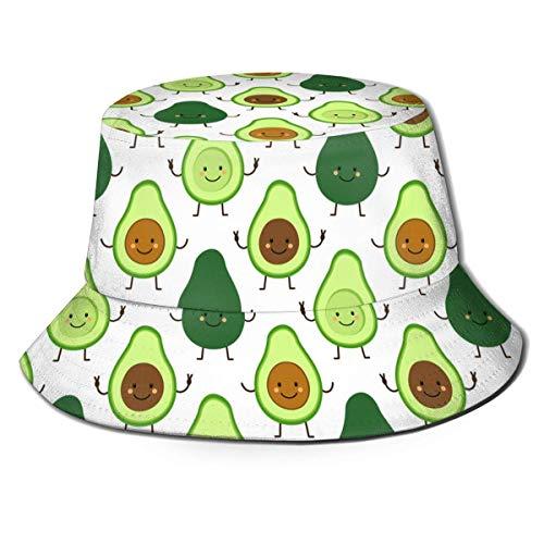 XCNGG Sombrero de Cubo de Viaje con Estampado nico Lindo Unisex Avocado3 Gorra de Pescador de Verano
