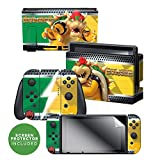 Controller Gear Officially Licensed Nintendo Switch Skin & Screen Protector Set - Super Mario - 'Bowser Vs' - Nintendo Switch