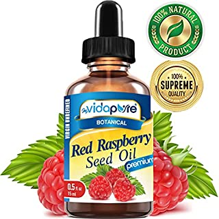 myVidaPure RED RASPBERRY SEED OIL Rubus idaeus WILD GROWTH RAW 100% Pure VIRGIN UNREFINED Undiluted 0.5 Fl.oz.- 15 ml. For Skin, Face, Hair, Lip and Nail Care.