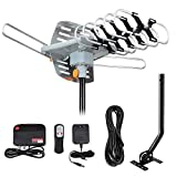 Outdoor TV Antenna, Digital Amplified HD TV Antenna 150 Mile Long Range with Mounting Pole & 33 ft...
