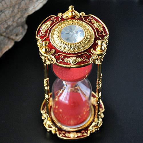 ASDZ Reloj de Arena,Temporizador de Reloj de Arena,Reloj de Arena de 15 Minutos,Reloj de Arena de latón,Reloj de Arena de Metal Vintage,Reloj de Arena de Reloj de Arena único para decoración Antigua