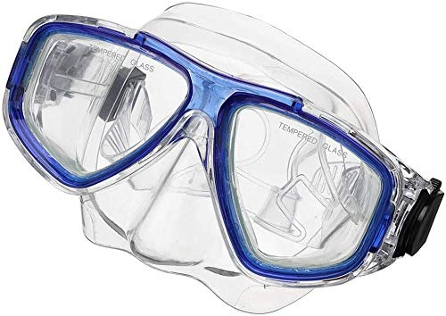 ZouYongKang Niños adultos natación máscara natación gafas con cubierta de nariz snorkel buceo buceo snorkeling, anti-niebla lente falda a prueba de fugas 180 vista panorámica cara de buceo en mascaril