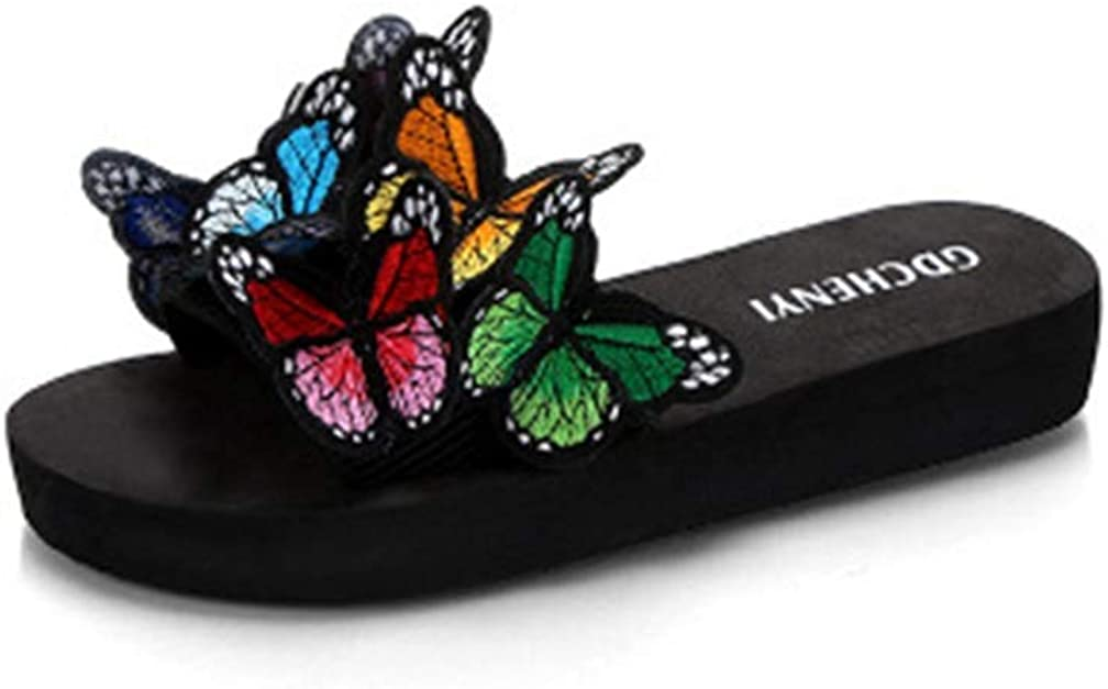 MIOKE Summer Flat Slide Sandals For Popular products Lo Latest item Womens Butterfly Platform