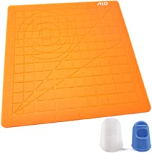 AIO Robotics Silicone Mat for 3D Printing Pen Drawing & Designing Including Two Silicone Finger Caps, Orange