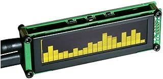 OLED音楽オーディオスペクトラムインジケータデスクトップMP3 PCアンプ速度調整可能なAGCモード15レベル