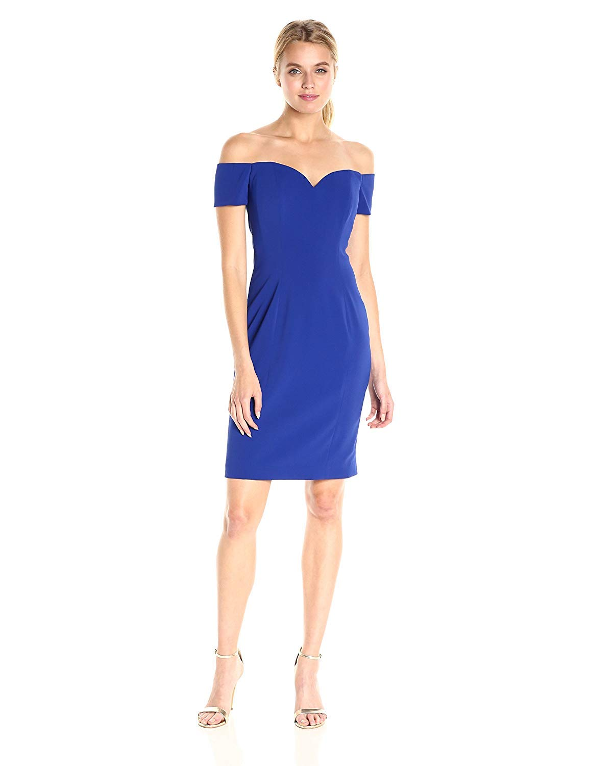 Available at Amazon: Badgley Mischka Women's Short Off The Shoulder Dress