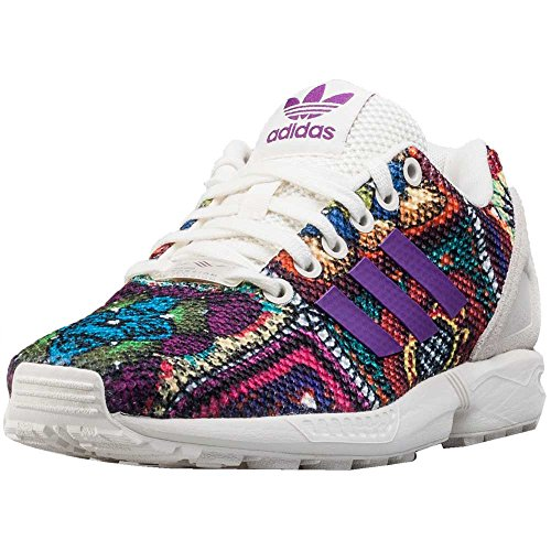 adidas Originals Shoes ZX Flux Shoes - Off White/Mid Grape, 40 2/3 EU, 7 UK