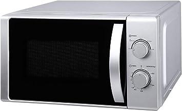 Nabo MWU 2015 - Microondas (20 L, 700 W, temporizador de 35 minutos a 00 segundos, plato giratorio de 25,5 cm), color plateado