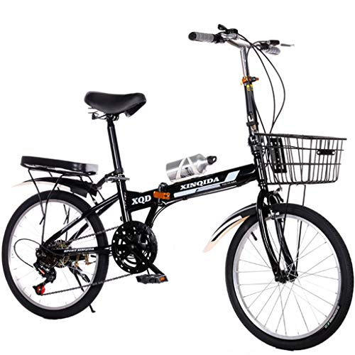 SXRKRZLB Bicicletas Bicicleta Plegable de 20 Pulgadas Ligero Mini Ciudad Compacta Bicicleta con Sanguan 6 Sistema de Cambio de Velocidad y el Cuadro de la Bicicleta Plegable Ajustable