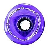 Shark Wheel Sidewinder 70mm 78A All-Terrain Skateboard/Longboard Wheels, Purple
