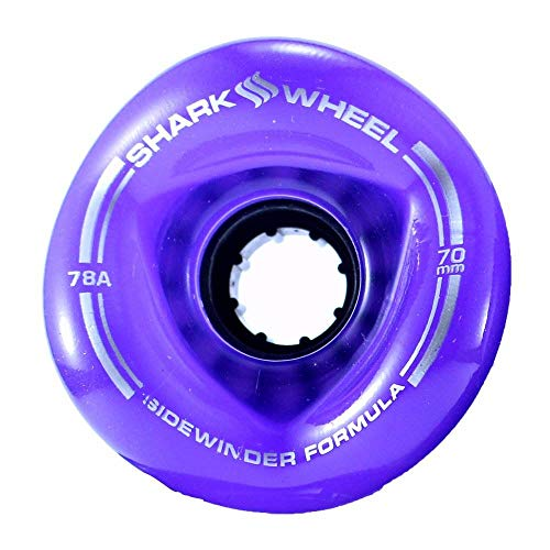 Shark Wheel 70 mm 78a Longboard Wheels | Sidewinder | Transparent Green (4-Pack)