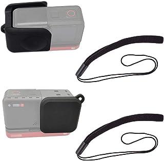 Rubber Lens Cover Cap for Insta360 ONE R Twin Edition Camera 4K+360 Degree Dual Lens, ULBTER Elastic Lens Cap Leash Keeper...