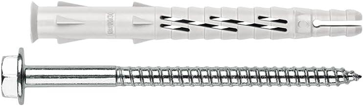 Index Fixing Systems T-NUX E zeskantpluggen met zink-nylon coating, 50 stuks 10 x 140 mm, diámetro de 10 mm