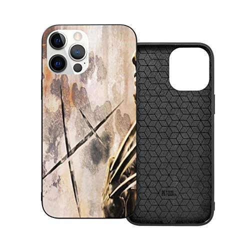 Wolve-Rines Cell Phone Case Compatible With I_Phone 12 / I_Phone 12 Pro Shock Proof Anti Scratch Hard Cover Case