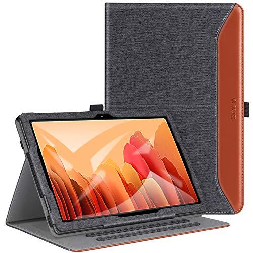 ZtotopHülle Hülle für Samsung Galaxy Tab A7 10.4 Zoll, Premium PU Leder Geschäftshülle mit Ständer, Kartensteckplatz, Auto Schlaf/Aufwach Funktion, für Samsung Galaxy Tab A7 2020,DenimSchwarz