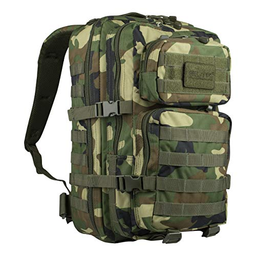 US Assault Pack - Mochila, color woodland, tamaño Farbe