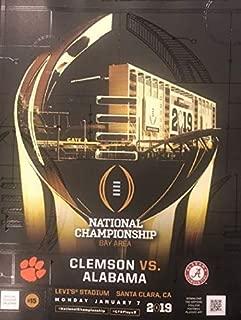 Football 2019 College National Championship Program Clemson VS. Alabama Official Program CFP