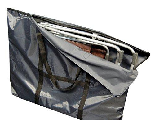 hausratplus Schutztasche Tragetasche für Lafuma Relax Liegen und Siesta L 102x83cm Oxford grau