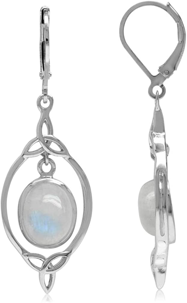 Silvershake Natural 2021 autumn and winter new Moonstone 925 Silver OFFicial store Celt Triquetra Sterling
