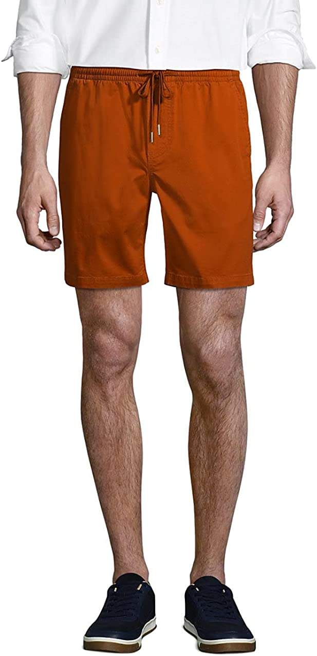 Lands' End Men's 7 in Comfort-First Knockabout Pull On Deck Shorts