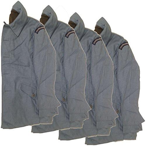 Original schwedische Feldjacke blau Zivilverteidigung Arbeitsjacke 4er Pack neu