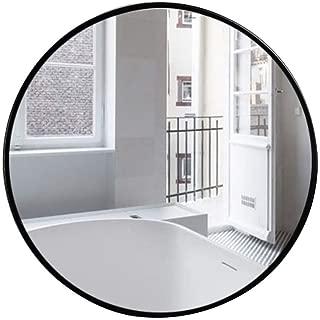 Cinco tamaños Espejo montado en la Pared Colgante Redondo Negro Moderno Simple Decorativo Pasillo Espejo de Alta Definición para Afeitar para la vanidad, Dormitorio o baño Mirror (Size : 40cm)
