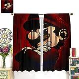 Petpany Cortinas opacas Super Mario Adventure Comic Game de 183 x 160 cm, ahorro de energía, cortinas de dormitorio