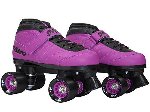 Epic Skates NitTurPrp04 Nitro Turbo Quad Speed Skates, Purple