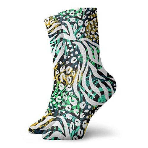 Asa Dutt528251 Animal Print Pattern Calcetines de tobillo Casual Divertido para botas deportivas Senderismo...