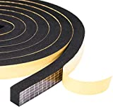 Yotache Mousse Bande de Joint 2 Rouleaux 12mm(l) x10mm(H) x4m(L) Ruban Adhésif Haute densité a Cellules Fermées Noir Porte fenêtre Isolation(Chacun 2 m)