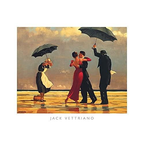Dance Print 15.75x19.75 Dance Me to the End of Love by Jack Vettriano Beach