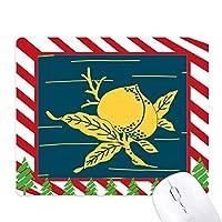 絵画文化イエローピーチ ゴムクリスマスキャンディマウスパッド