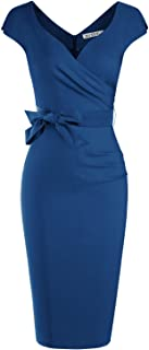 Best knee length navy blue dresses Reviews