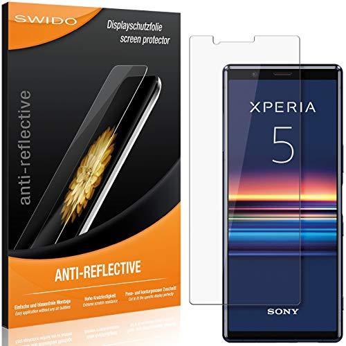 SWIDO Schutzfolie für Sony Xperia 5 [2 Stück] Anti-Reflex MATT Entspiegelnd, Hoher Festigkeitgrad, Schutz vor Kratzer/Folie, Bildschirmschutz, Bildschirmschutzfolie, Panzerglas-Folie