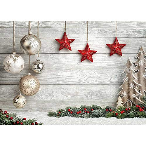 Allenjoy 7x5ft White Christmas Party Photography Backdrop for Portrait Soft Fabric Winter Snow Wood Floor Xmas Background Newborn Baby Shower Santa Party Banner Decors Photo Studio Props