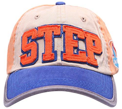 100% Baumwolle STEP 3D Sticken Pu Zubehör Hysteresen Baseball mütze hut (blau)