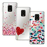 Young & Min Funda para Xiaomi Redmi Note 9S/Redmi Note 9 Pro, (3 Pack) Transparente TPU Silicona Carcasa Delgado Antigolpes Resistente, Amor