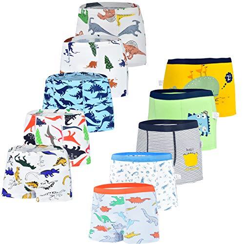 JackLoveBriefs Kinder Unterhose Jungen 10er-Pack Farbe: Blau Größe:L