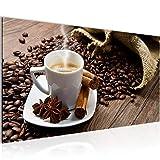 Bilder Kaffee Coffee Wandbild 100 x 40 cm Vlies - Leinwand
