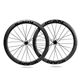 TRIAERO Alpha 50 Carbon Road Bike Wheelset Clincher Tubeless Ready Rim Novatec A291SB-SL / F482SB-SL Hub Pillar 1423 Radios 24/24 Orificios